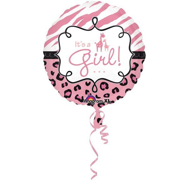 Anagram 18 Inch Circle Foil Balloon - Safari Baby Girl