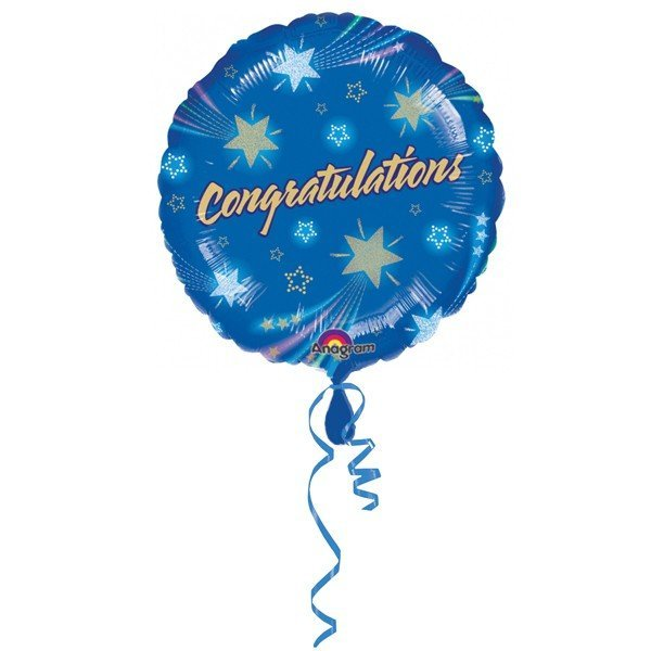 Anagram 18 Inch Circle Foil Balloon - Shooting Star Congratulations