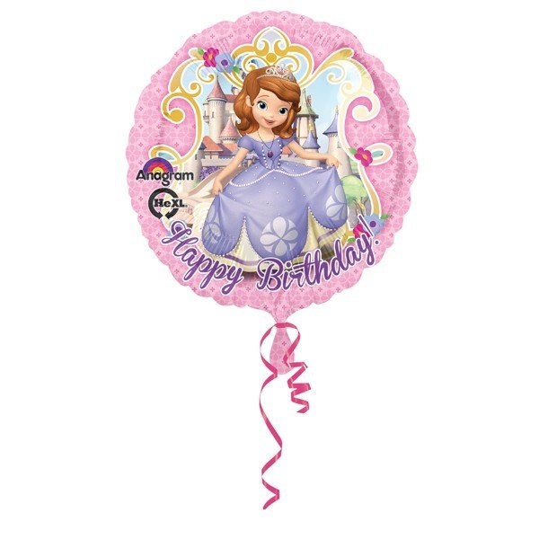 Anagram 18 Inch Circle Foil Balloon - Sofia Happy Birthday