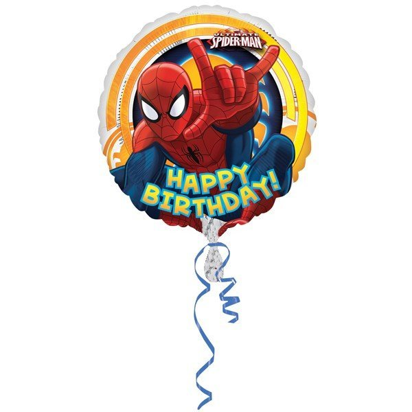 Anagram 18 Inch Circle Foil Balloon - Spiderman Ultimate Birthday