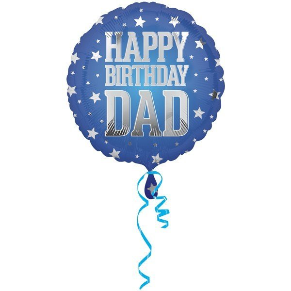 Anagram 18 Inch Circle Foil Balloon - Super Star Dad Birthday