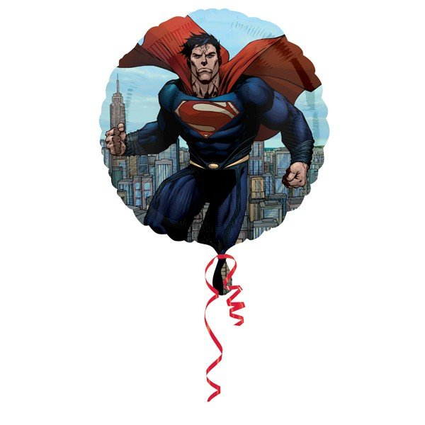 Anagram 18 Inch Circle Foil Balloon - Superman Man Of Steel