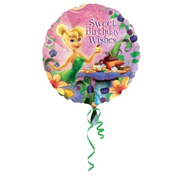 Anagram 18 Inch Circle Foil Balloon - Tinker Bell Happy Birthday