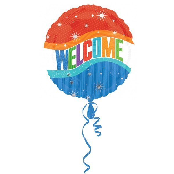 Anagram 18 Inch Circle Foil Balloon - Warm Welcome