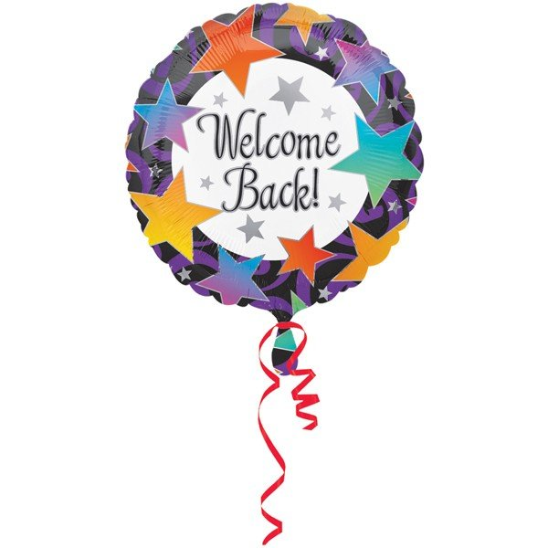 Anagram 18 Inch Circle Foil Balloon - Welcome Back Stars