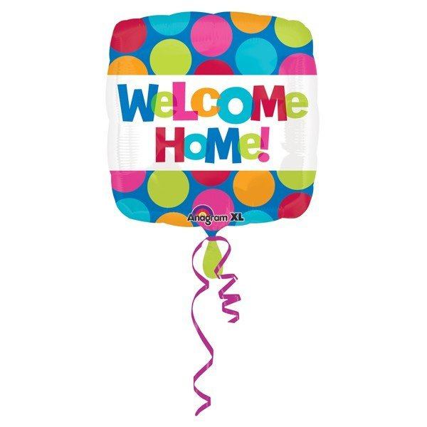 Anagram 18 Inch Circle Foil Balloon - Welcome Home