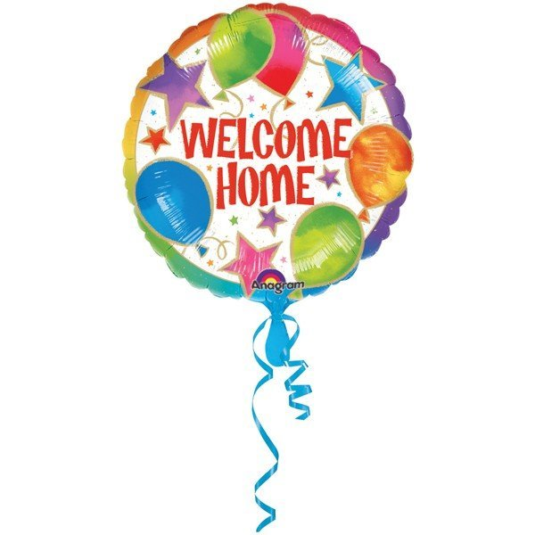 Anagram 18 Inch Circle Foil Balloon - Welcome Home Celebrations