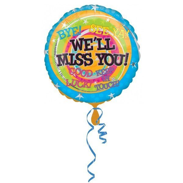 Anagram 18 Inch Circle Foil Balloon - Well Miss You Messages