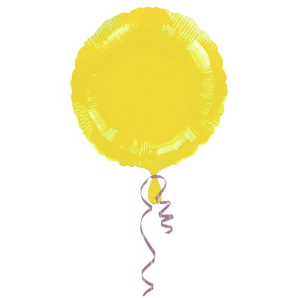 Anagram 18 Inch Circle Foil Balloon - Yellow/Yellow