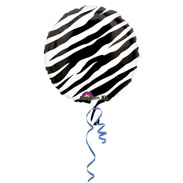 Anagram 18 Inch Circle Foil Balloon - Zebra