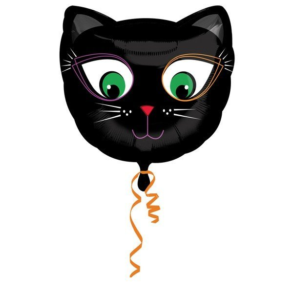 Anagram 18 Inch Foil Balloon - Black Cat
