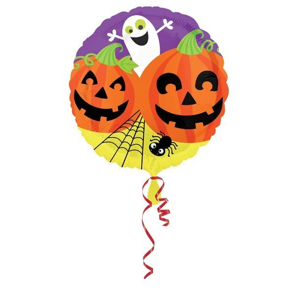 Anagram 18 Inch Foil Balloon - Ghost & Pumpkins