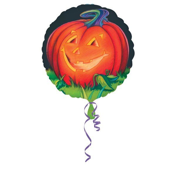Anagram 18 Inch Foil Balloon - Glowing Pumpkin