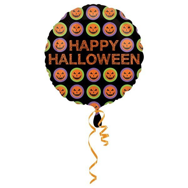 Anagram 18 Inch Foil Balloon - Halloween Pumpkin Pattern