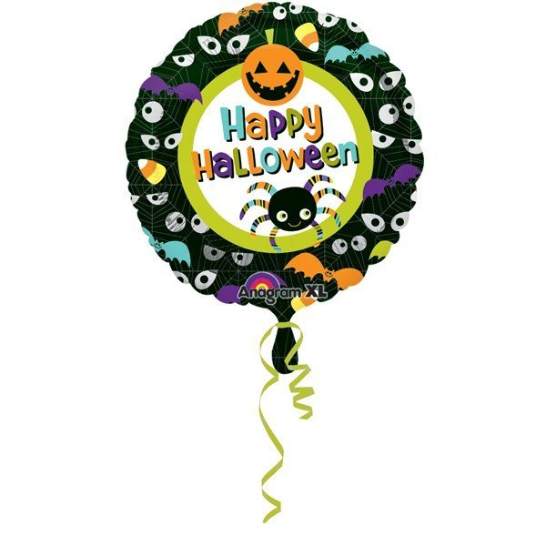 Anagram 18 Inch Foil Balloon - Happy Halloween Eyes