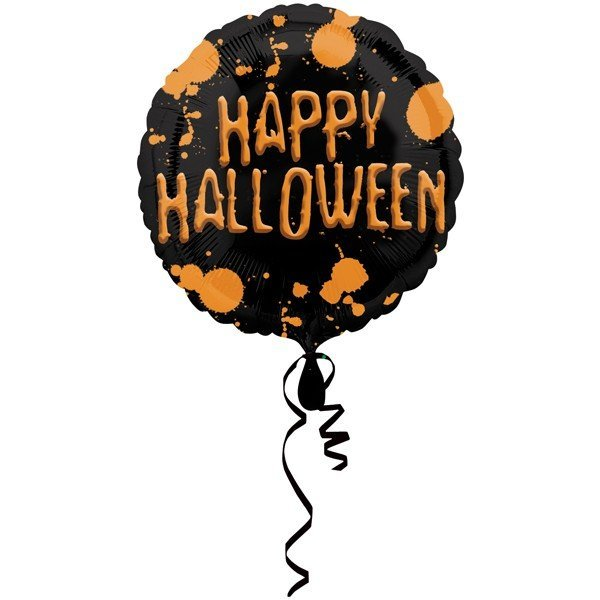 Anagram 18 Inch Foil Balloon - Happy Halloween Splatter