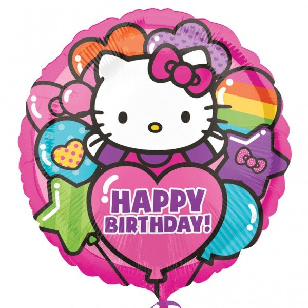 Anagram 18 Inch Foil Balloon - Hello Kitty Happy Birthday