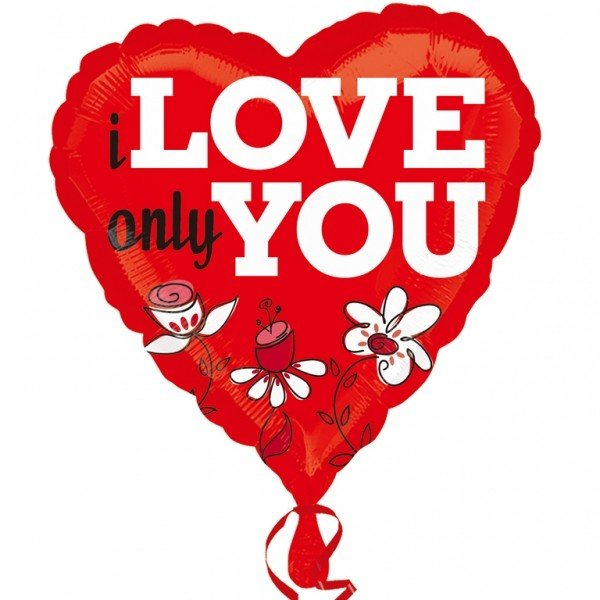 Anagram 18 Inch Foil Balloon - I Love Only You