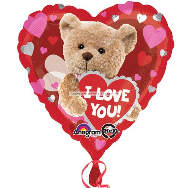 Anagram 18 Inch Foil Balloon - I Love You Bee Bear