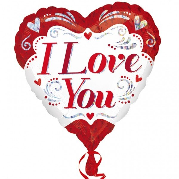 Anagram 18 Inch Foil Balloon - I Love You Fancy Holographic