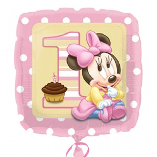Anagram 18 Inch Foil Balloon - Minnie 1st Birthday