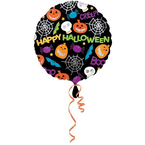 Anagram 18 Inch Foil Balloon - Playful Halloween Icons