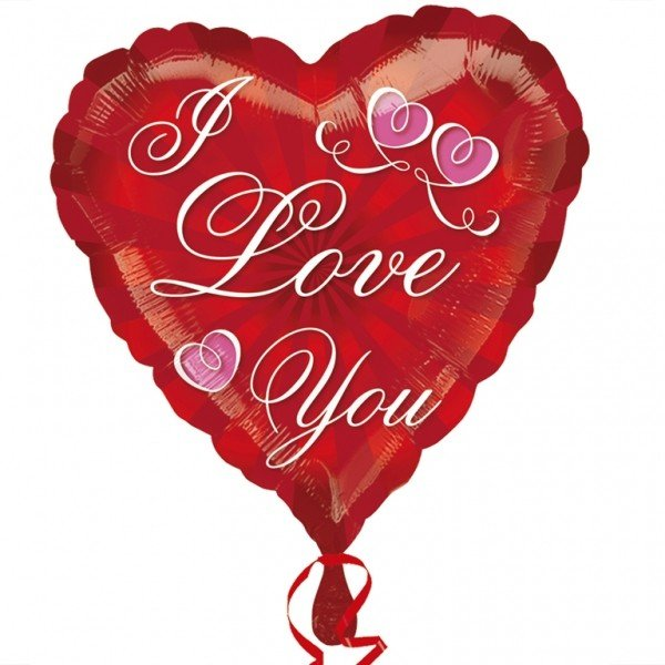 Anagram 18 Inch Foil Balloon - Radiating Love You