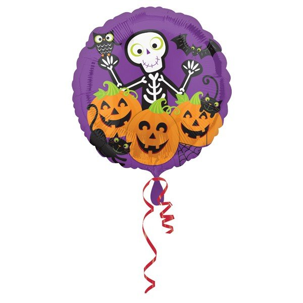 Anagram 18 Inch Foil Balloon - Skully & Friends