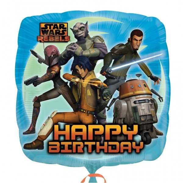 Anagram 18 Inch Foil Balloon - Star Wars Rebels Happy Birthday 2 Sided