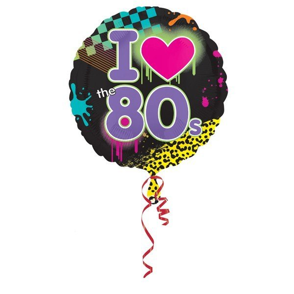 Anagram 18 Inch Foil Balloon - Totally 80s