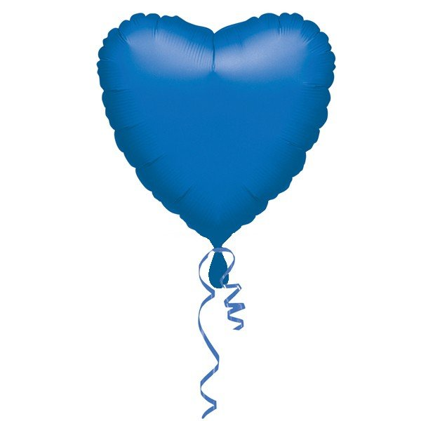 Anagram 18 Inch Heart Foil Balloon - Blue/Blue