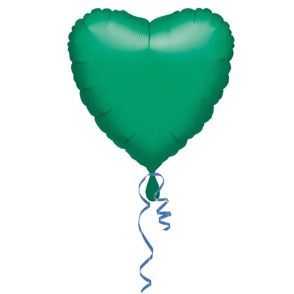 Anagram 18 Inch Heart Foil Balloon - Green/Green