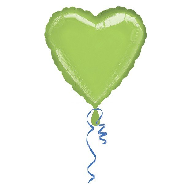 Anagram 18 Inch Heart Foil Balloon - Lime Green