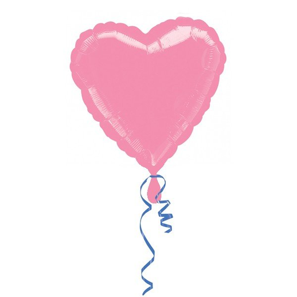 Anagram 18 Inch Heart Foil Balloon - Pink/Pink