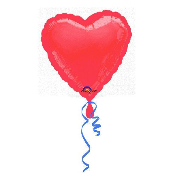 Anagram 18 Inch Heart Foil Balloon - Red/Red
