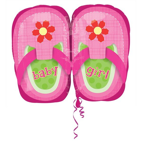 Anagram 18 Inch Junior Shape Foil Balloon - Baby Girl Pretty Pink Shoes