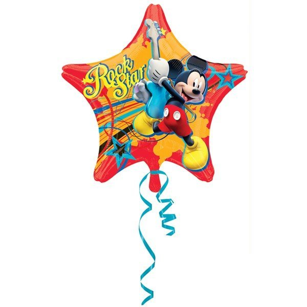 Anagram 18 Inch Junior Shape Foil Balloon - Mickey Rock Star
