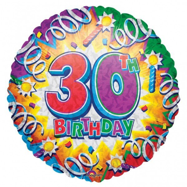 Anagram 18 Inch Met Foil Balloon - Birthday Explosion 30