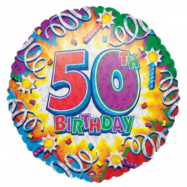 Anagram 18 Inch Met Foil Balloon - Birthday Explosion 50