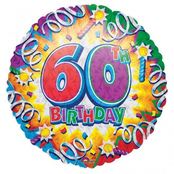 Anagram 18 Inch Met Foil Balloon - Birthday Explosion 60