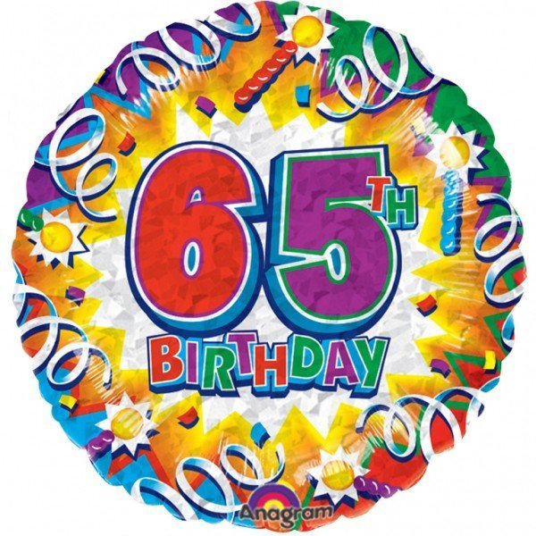 Anagram 18 Inch Met Foil Balloon - Birthday Explosion 65