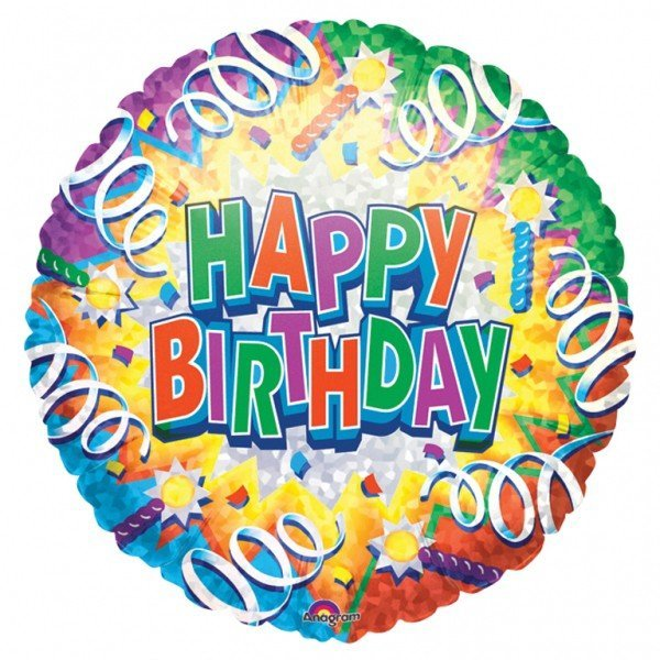 Anagram 18 Inch Met Foil Balloon - Birthday Explosion Happy Birthday