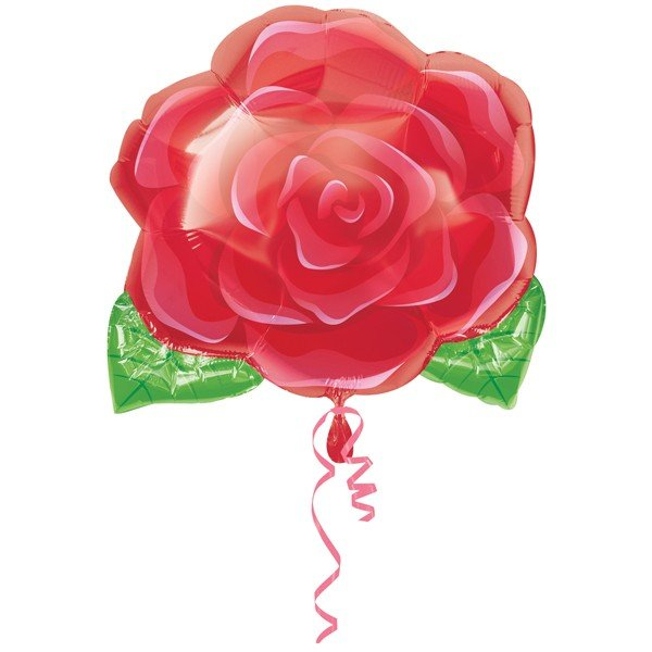 Anagram 18 Inch Shape Foil Balloon - Blooming Rose