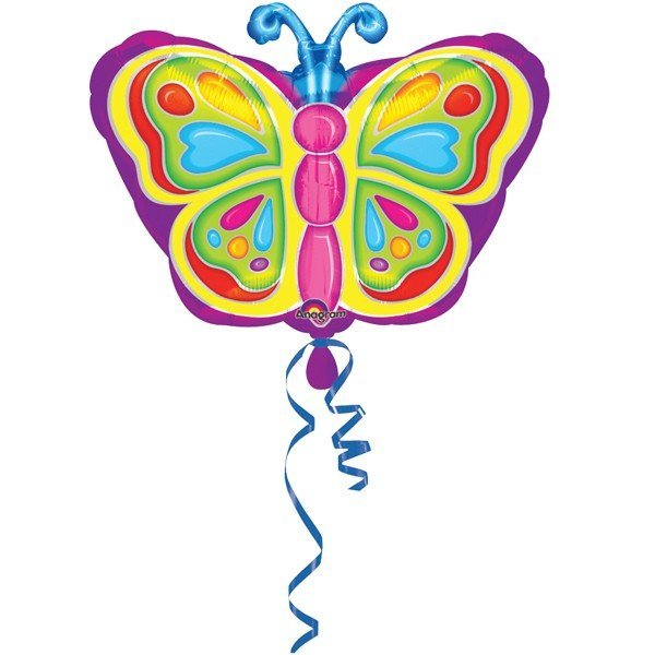 Anagram 18 Inch Shape Foil Balloon - Bright Butterfly