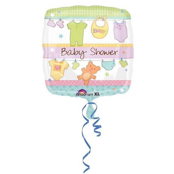 Anagram 18 Inch Square Foil Balloon - Cuddly Clothesline