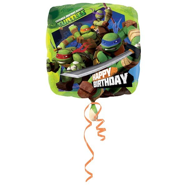 Anagram 18 Inch Square Foil Balloon - Ninja Turtles Birthday