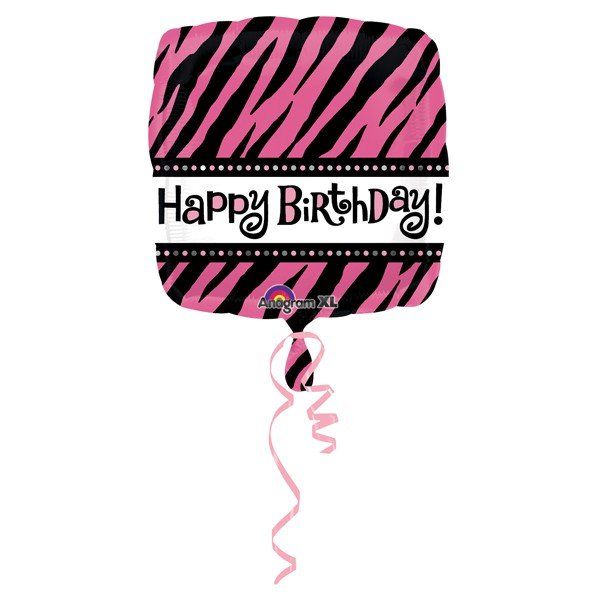 Anagram 18 Inch Square Foil Balloon - Oh So Fabulous Happy Birthday