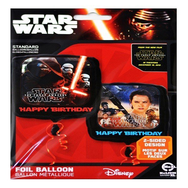 Anagram 18 Inch Square Foil Balloon - Star Wars Episode VII Happy Birthday