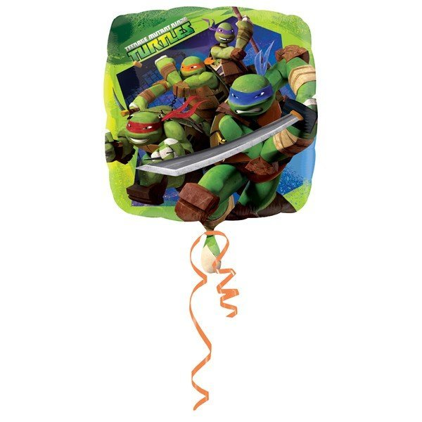 Anagram 18 Inch Square Foil Balloon - Teenage Mutant Ninja Turtles