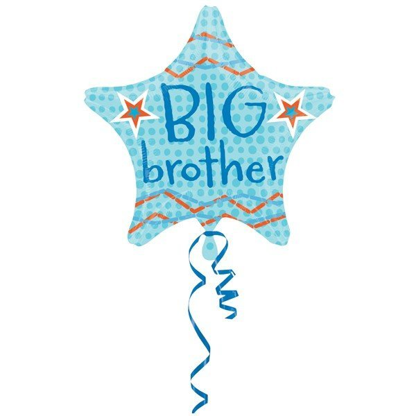 Anagram 18 Inch Star Foil Balloon - Big Brother Star